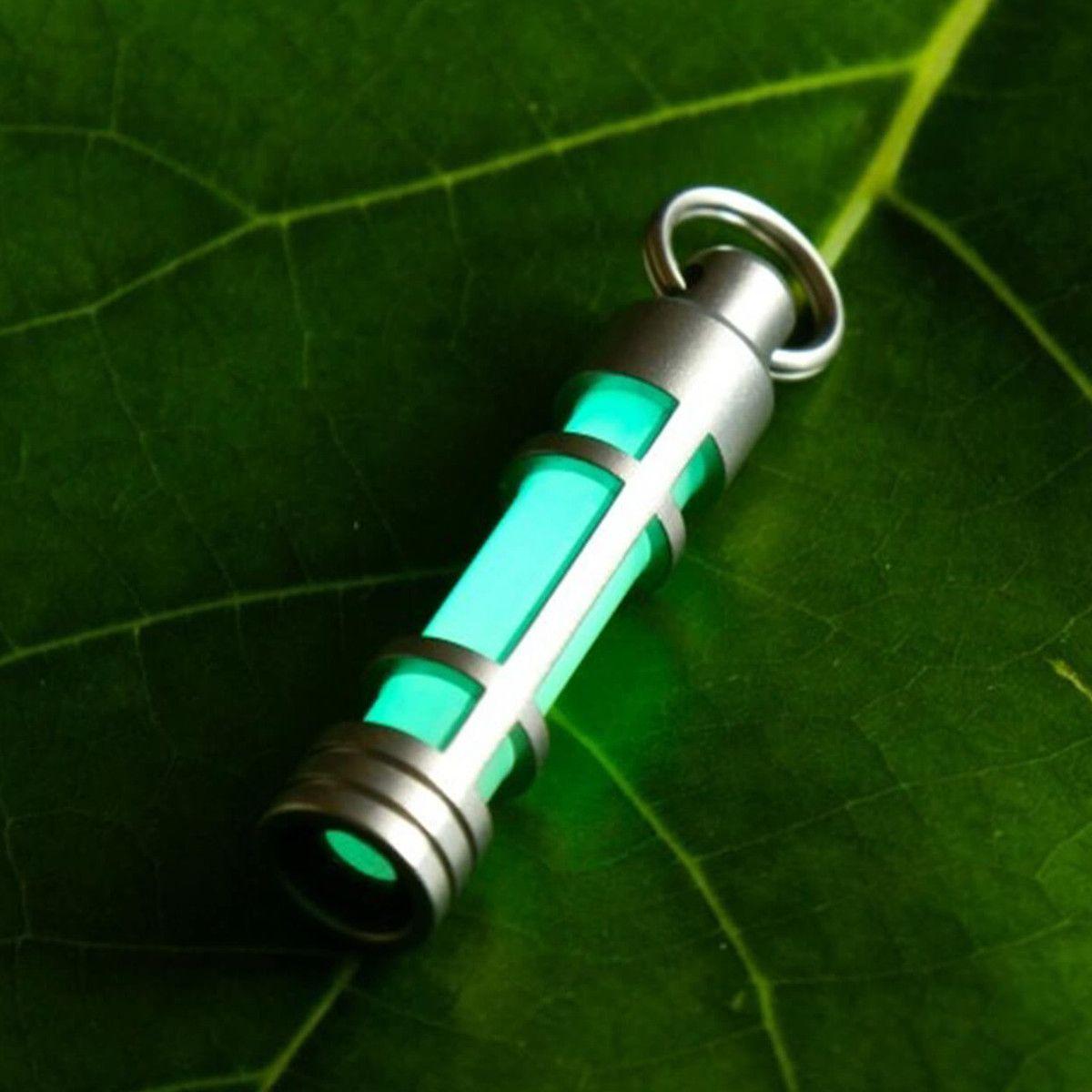 チタントリチウムキーホルダーキーリング発光トリチウムガスランプ救命緊急ライト自動ライト25年 Emergency Lighting Gas Lamp Tritium
