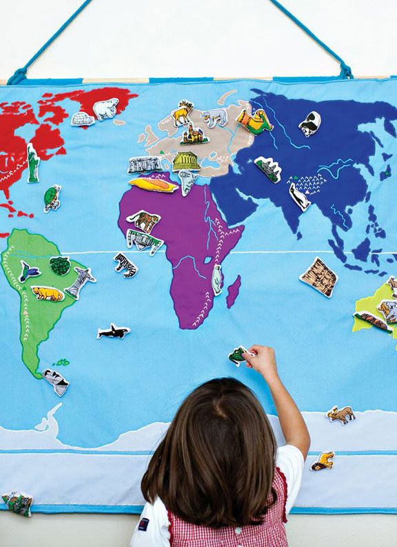 Hanging fabric world map you can add sets of people landmarks and hanging fabric world map you can add sets of people landmarks and animals that can be moved around love this gumiabroncs Choice Image