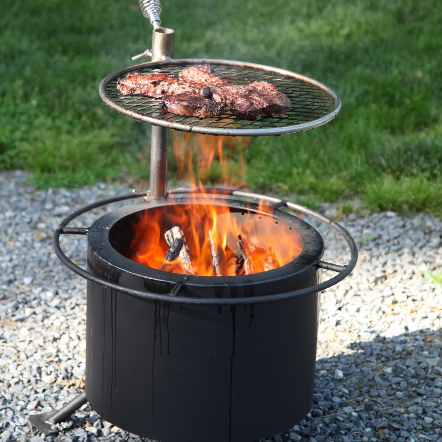 Double flame 15inch smokeless wood burning fire pit