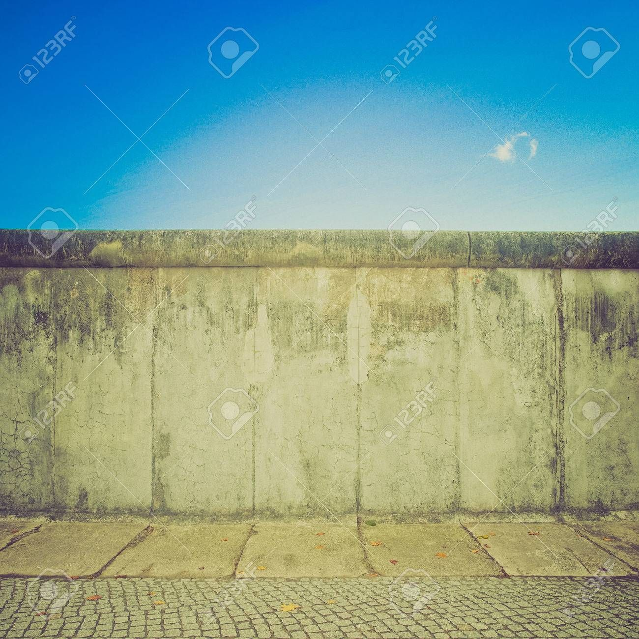 Vintage Looking The Berlin Wall Berliner Mauer In