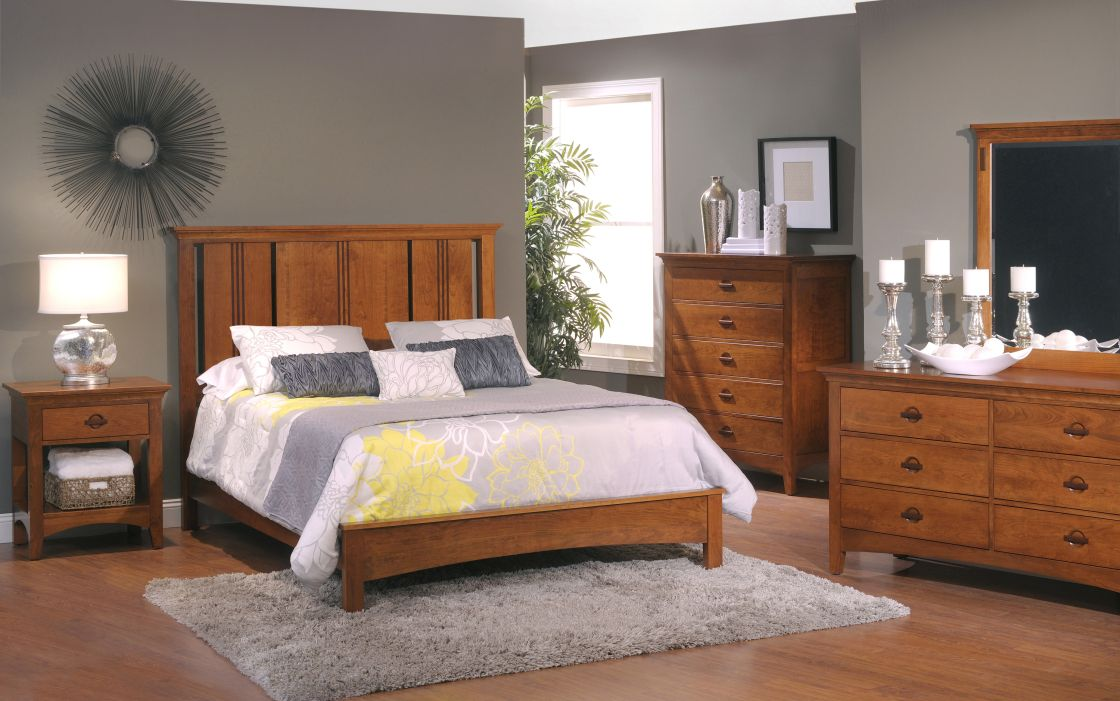 exciting modern bedroom interior ideas with popular grey paint wall schemes and mission style. Black Bedroom Furniture Sets. Home Design Ideas
