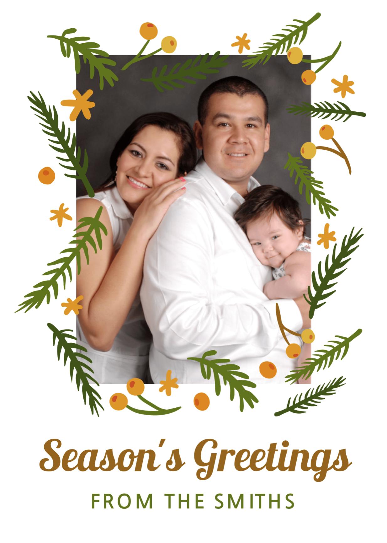 Family Season's Greeting Card Free personal templates
