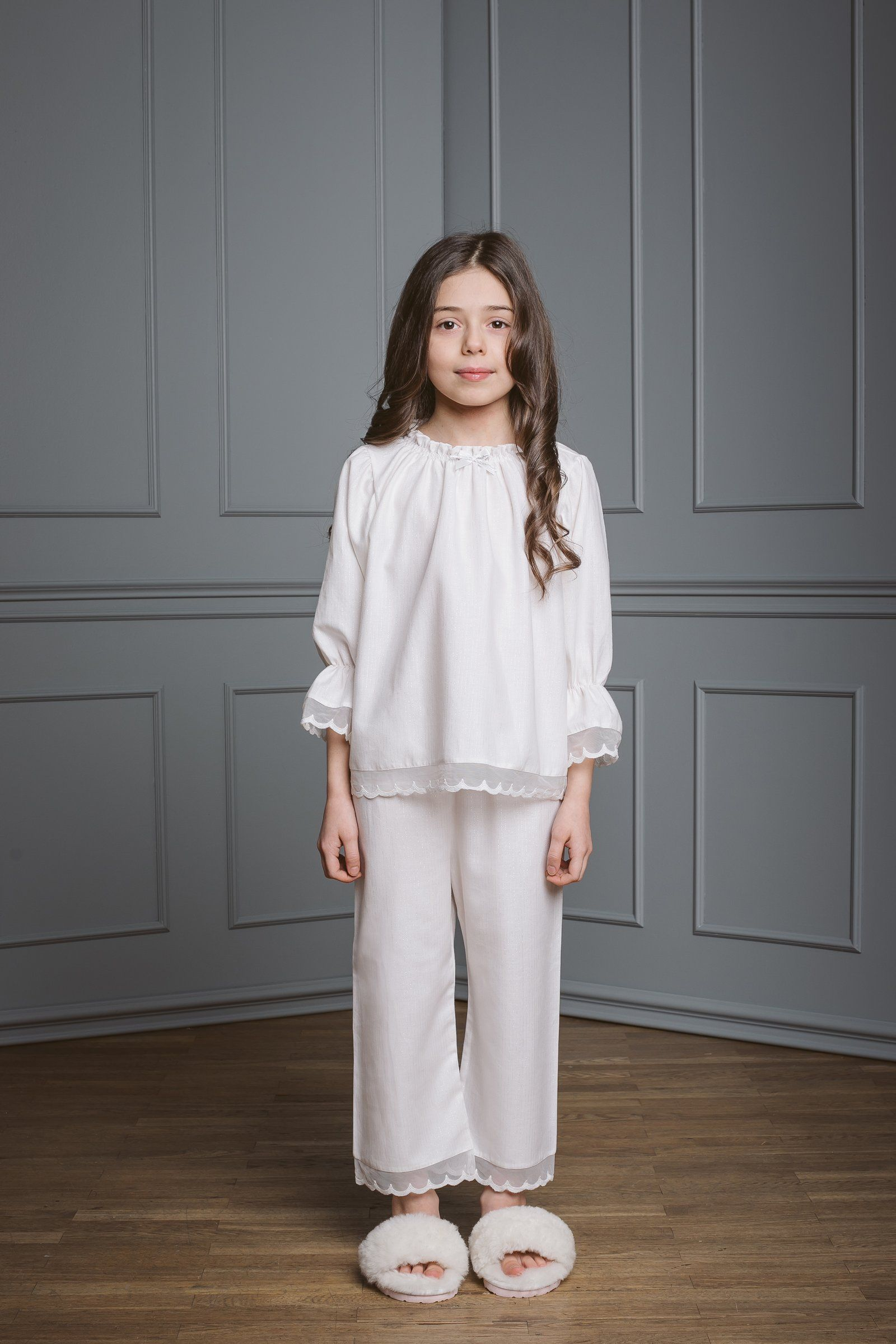 06adcb358459 Grace kids  pyjama set milk in size 10-12 in 2019