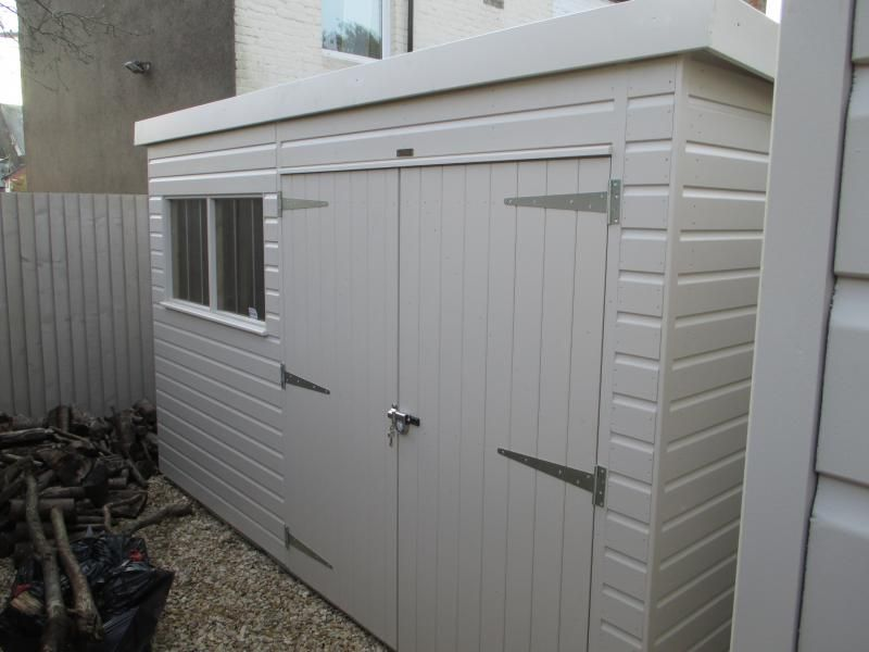 Garden Sheds Installed superior garden shed with pent roof our customer in bristol wanted
