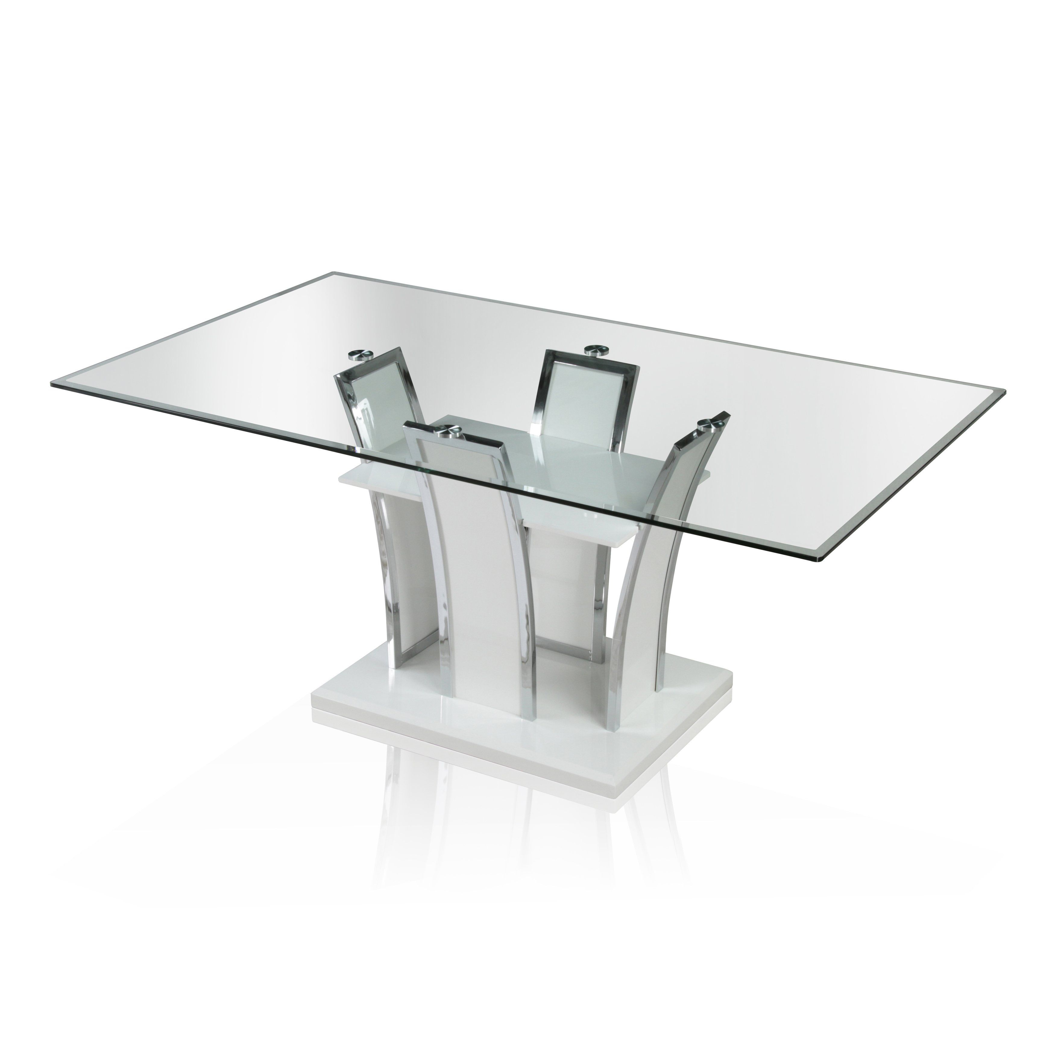 Ziana Contemporary 72 Inch Rectangular Dining Table By Foa Black
