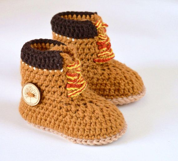 Baby Timberlands Construction Boot Crochet Pattern, 3 Sizes Baby Boy ...