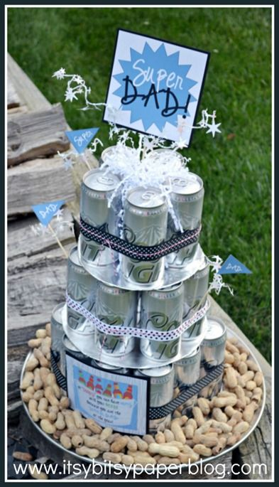 Last Minute Fathers Day Gift Ideas Father Gift And Beer Cakes - Beer Can Wedding Cake