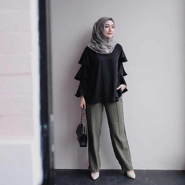 Tutorial Hijab Untuk Pegawai Kantor | Model pakaian hijab ...