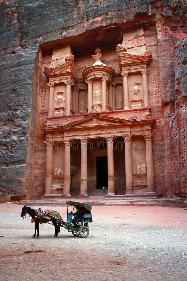 Jordan: Tomb in Petra stock image. Image of nabatean - 18303699