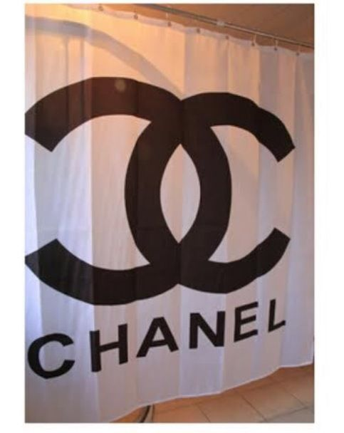 Chanel Shower Curtain On Storenvy With Images White Shower