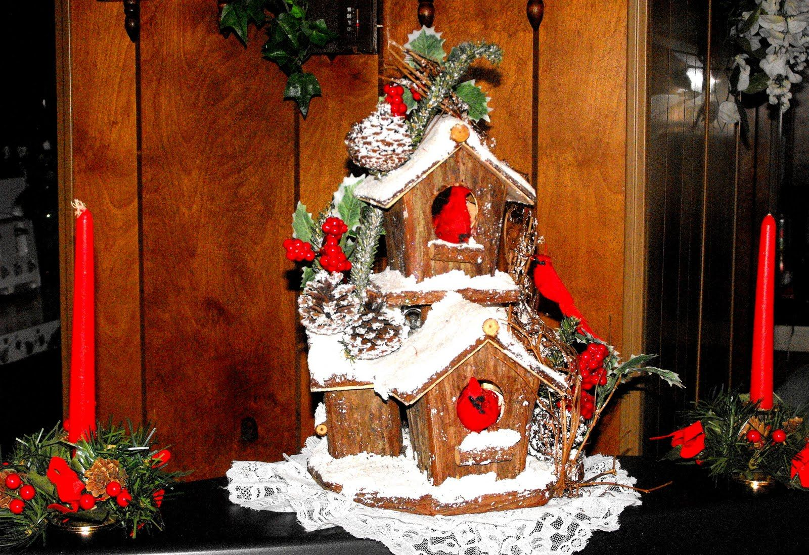 Snowy storied house ornament christmas accent table decoration also rh in pinterest