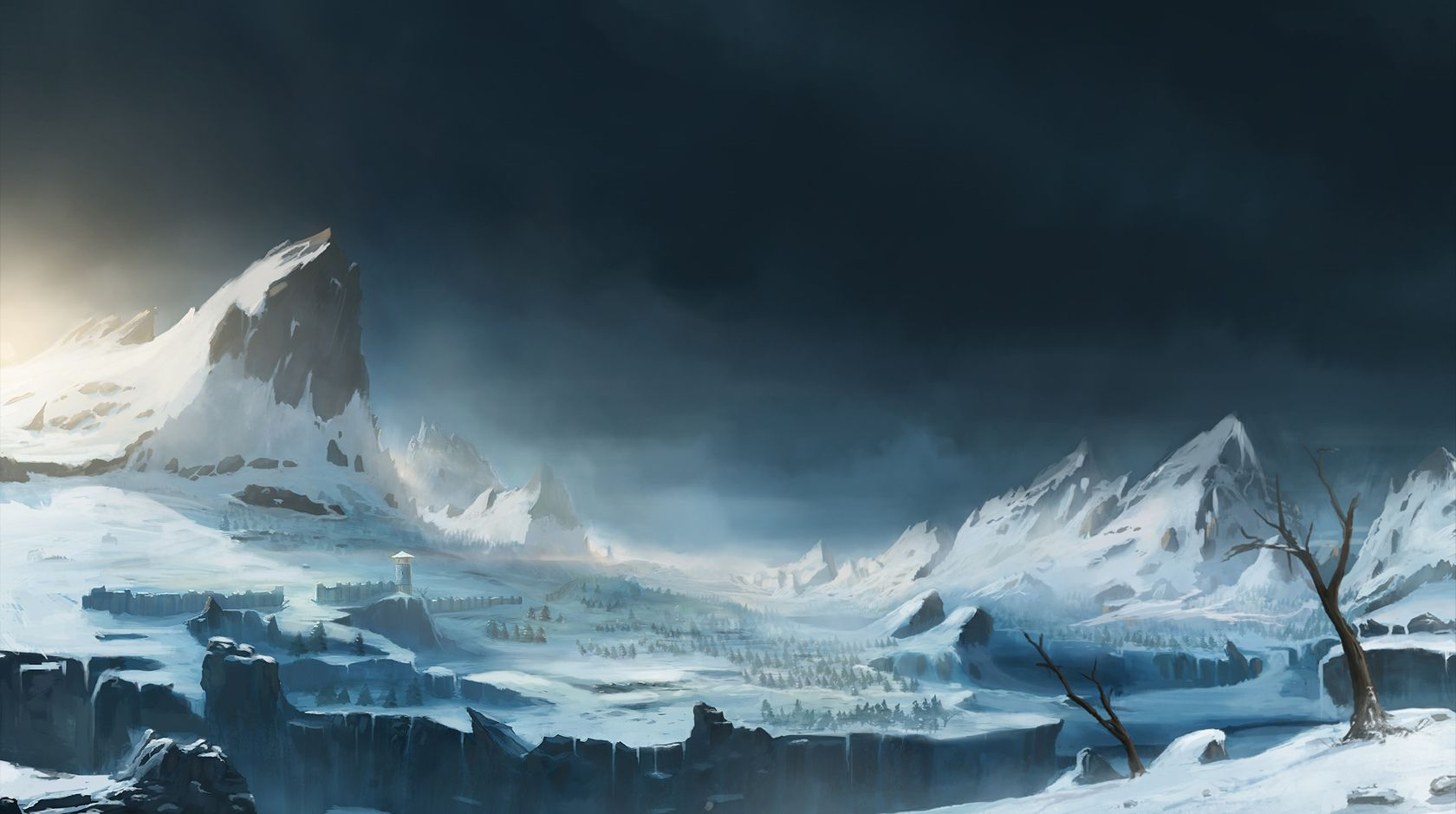 Snowy mountains by Blinck.deviantart.com on @deviantART ...