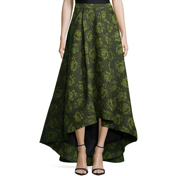 84019ac23b Alice + Olivia Floral Jacquard High-Low Skirt ($796) ❤ liked on Polyvore