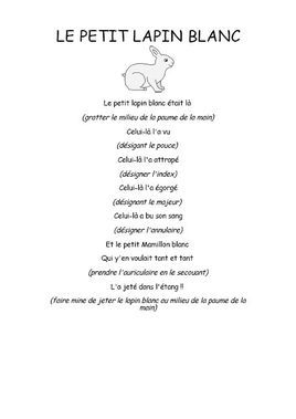 Le Petit Lapin Blanc Comptine Maternelle Poesie