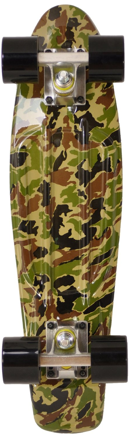 Ridge Print Series Retro Cruiser Skateboard complet Camo 55 cm x 15 cm: Amazon.fr: Sports et Loisirs