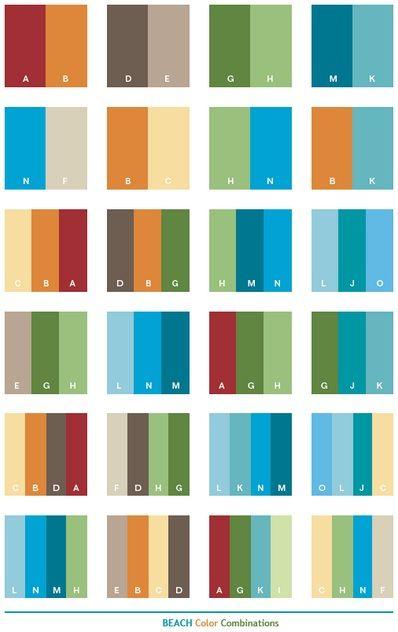 beach theme decorating color palette - Home Decorating Color Palettes