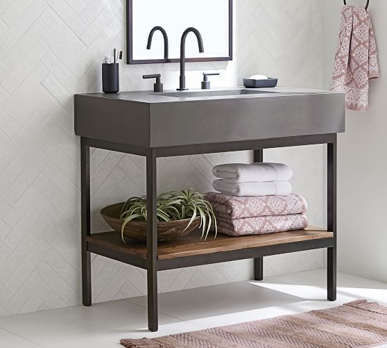 Benchwright Single Wide Sink Console Wax Pine At Pottery