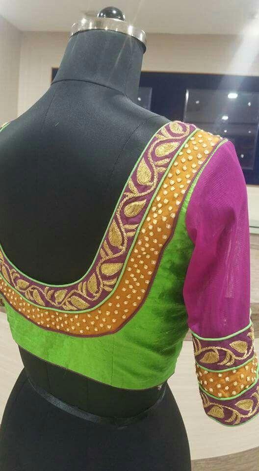 Super 3 Colour Trendy Blouse Designs Blouse Work Designs Blouse Designs