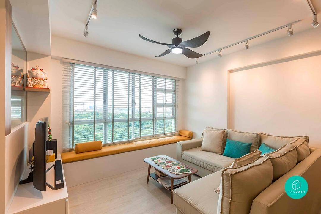 Annoyed By These Hdb Features So Are We Blinds For Windows Living Rooms Bay Window Living Room Window Seat Design