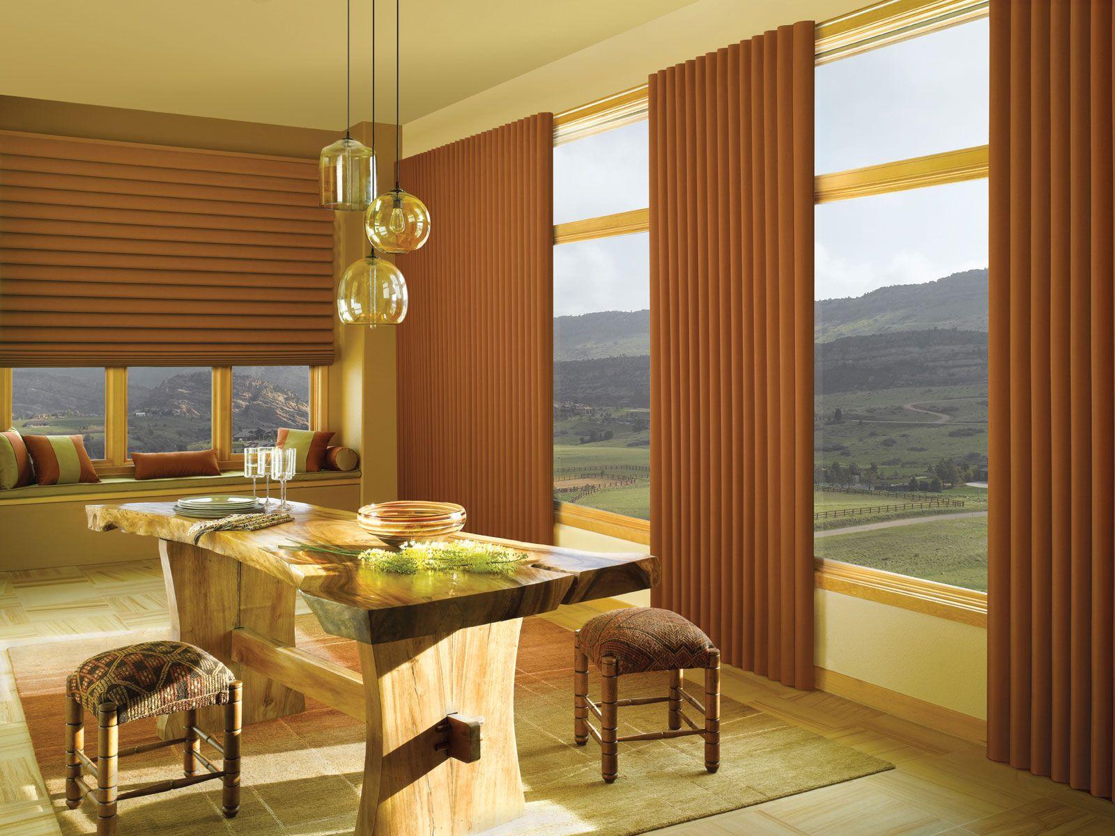 Vignette Traversed Vertiglide Dining Room Window Treatments Dining Room Colors Dining Room Windows