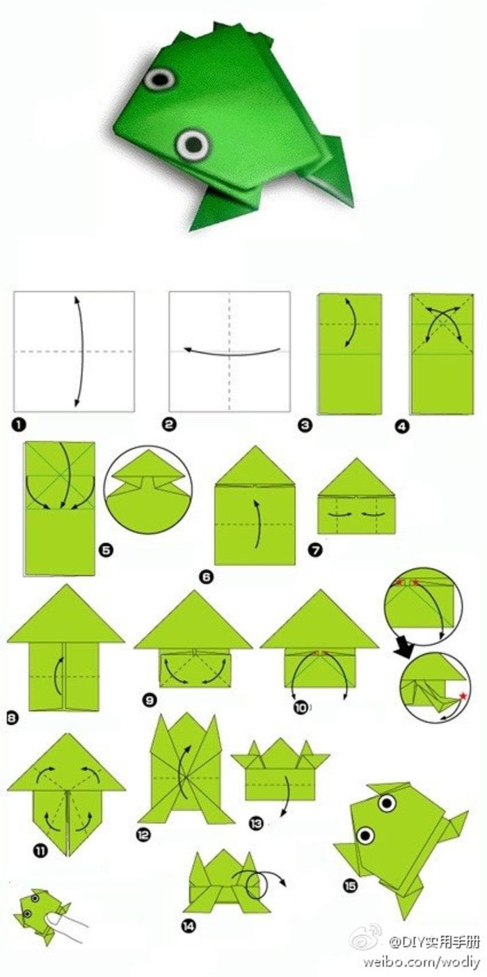 frog origami tutorial                                                                                                                                                      More
