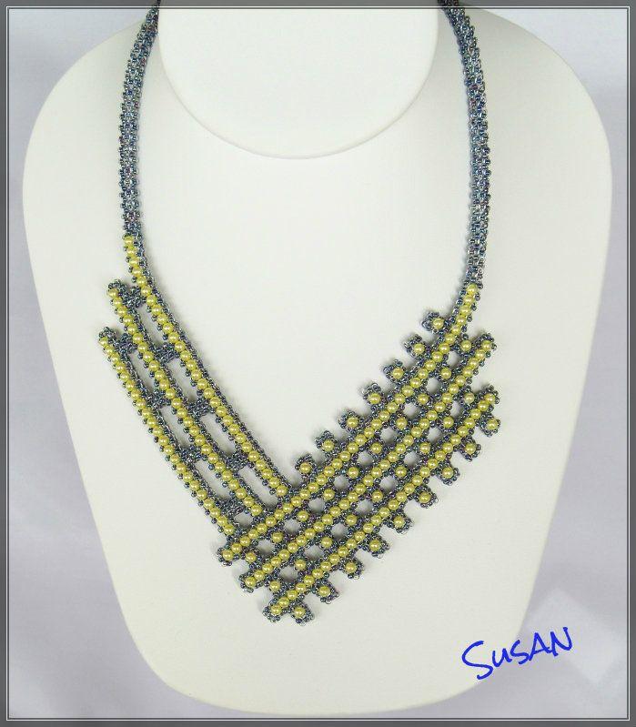 Mina smycken: Gula rutor