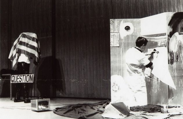 ROBERT RAUSCHENBERG. Creating Gold Standard. Tokyo, 1964. Masaaki Sekiya.