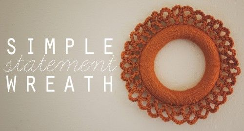 simple wreath that makes a bold statement. Love It!