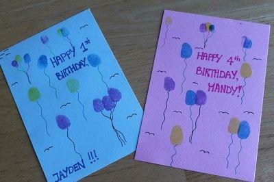 Thumbprint Birthday Cards Birthday Cards To Print Birthday Card Craft Birthday Cards