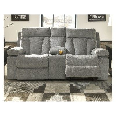 Astonishing Mitchiner Double Reclining Loveseat With Console Light Gray Bralicious Painted Fabric Chair Ideas Braliciousco