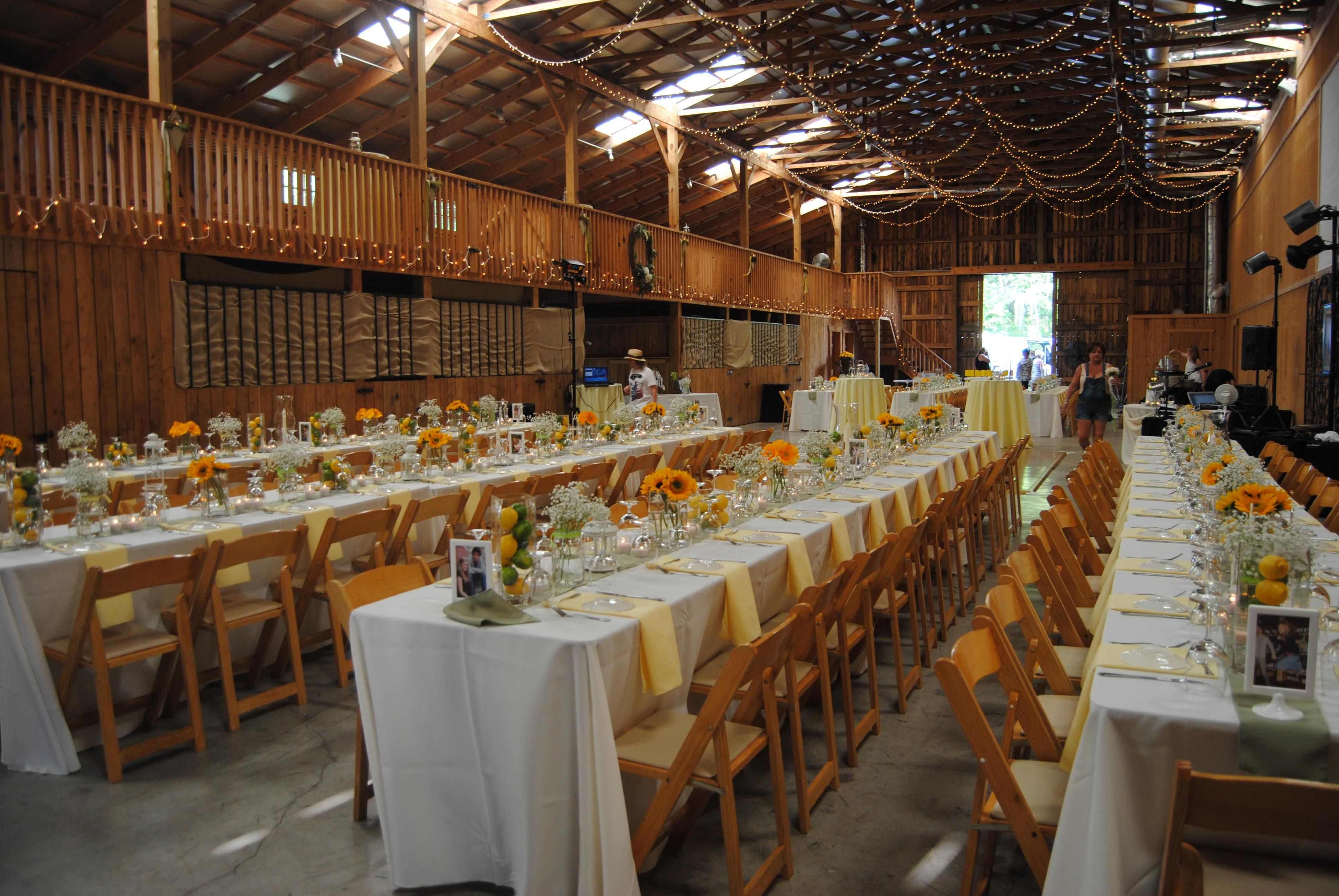 Casual Wedding Reception Ideas | Chic Rustique! What A Fabulous Farm For A  Wedding Reception