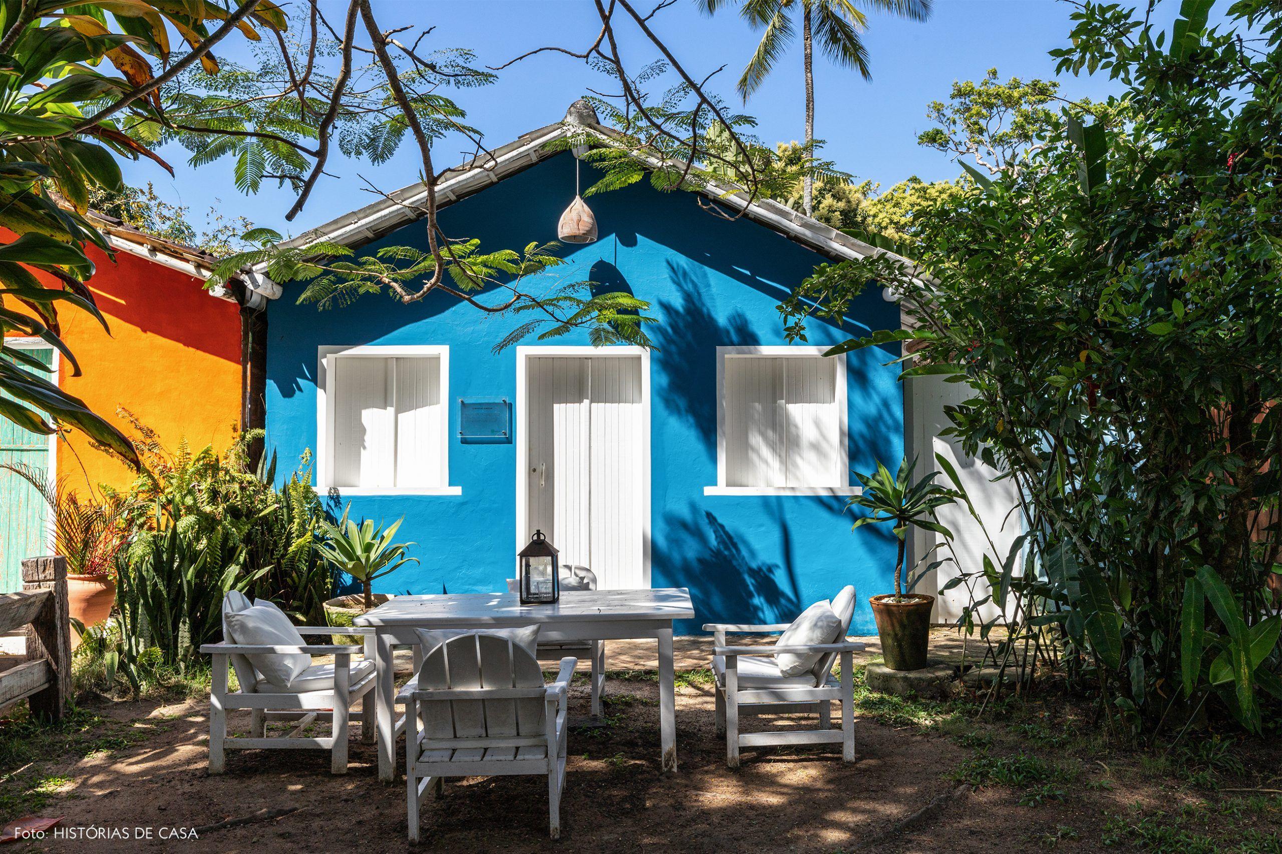 Fotos de casas de madeira pintadas