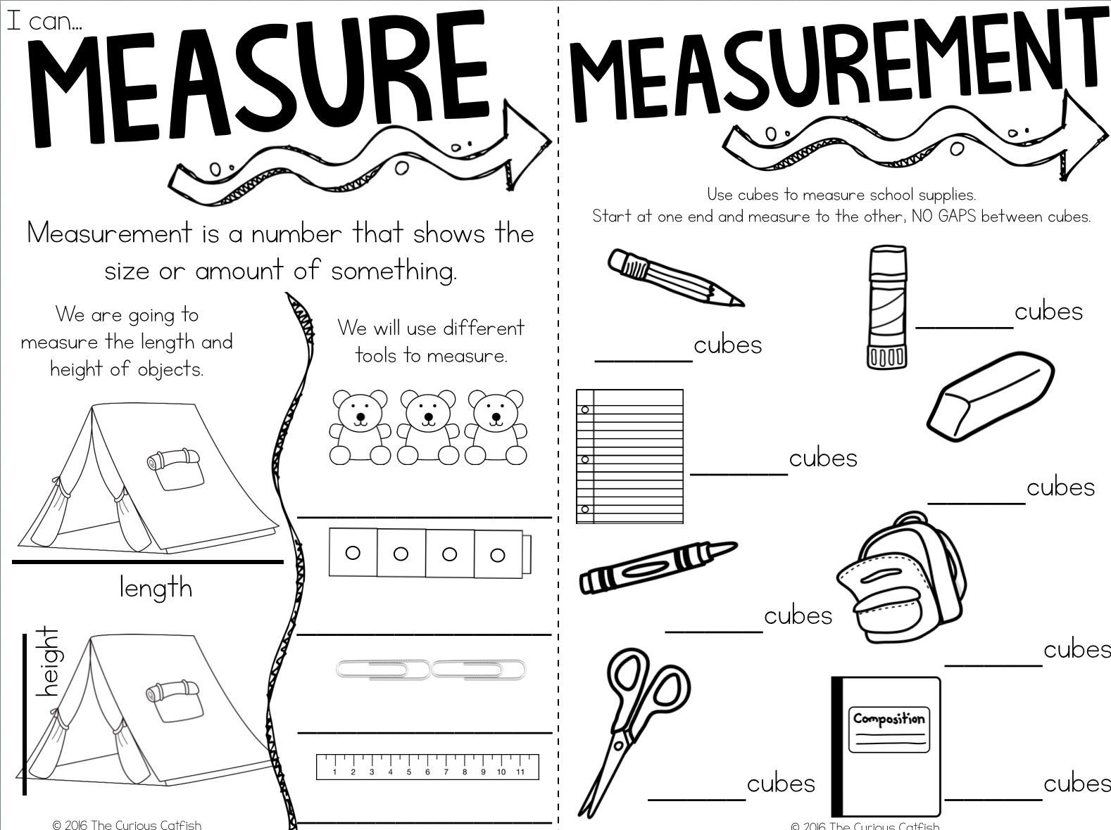 Get this activity and many others at: https://www.teacherspayteachers.com/Product/Measurement-1md1-1md2-2560670