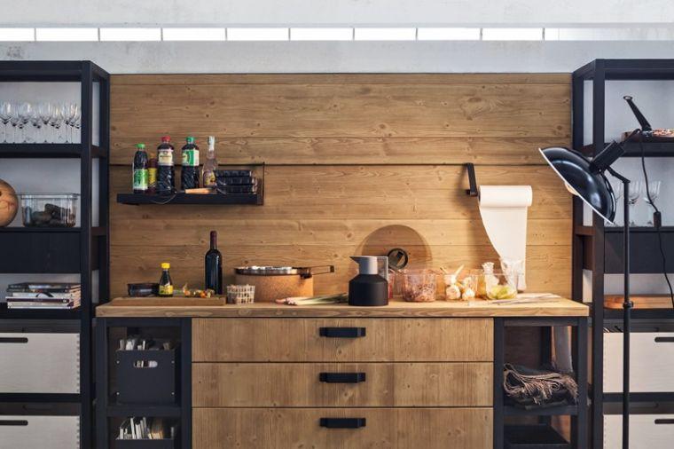 Meuble Moderne Pour Cuisine Bois D Ambiance Authentique Cuisine