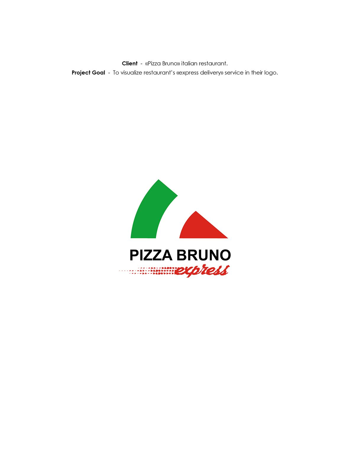 "LOGO ""Pizza Bruno Express"" on Behance"