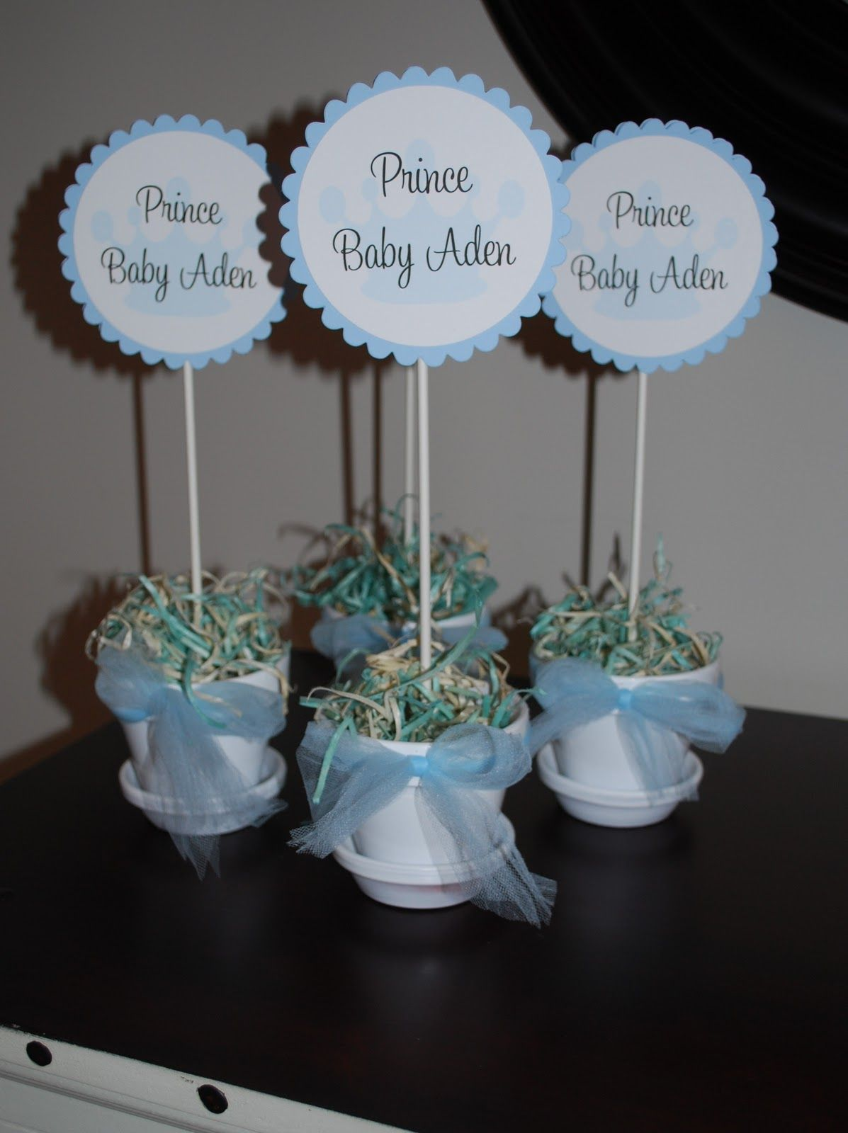 Prince Baby Shower Baby Shower Table Decorations Baby Shower