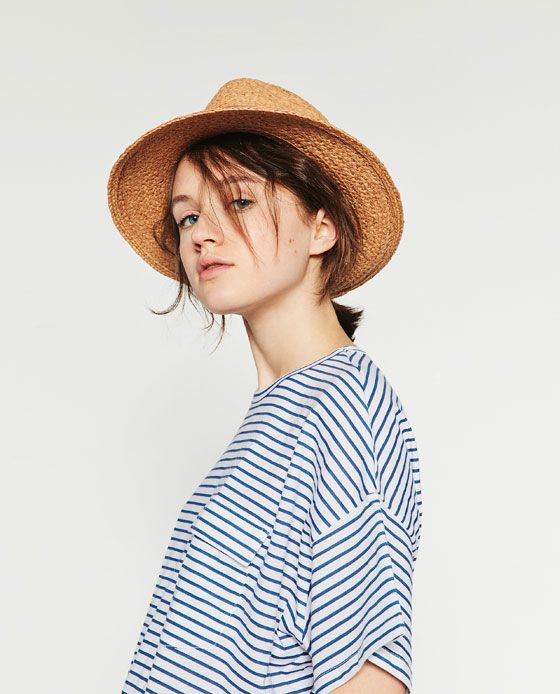 7eb4f620 Image 2 of RAFFIA HAT from Zara | Fav Engagement Outfits | Raffia ...