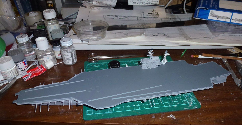 Building A 1 700 Scale USS John F Kennedy CV 67 Part 2