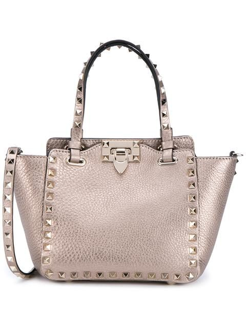 VALENTINO 'Rockstud' trapeze tote. #valentino #bags #shoulder bags #hand bags #suede #tote #