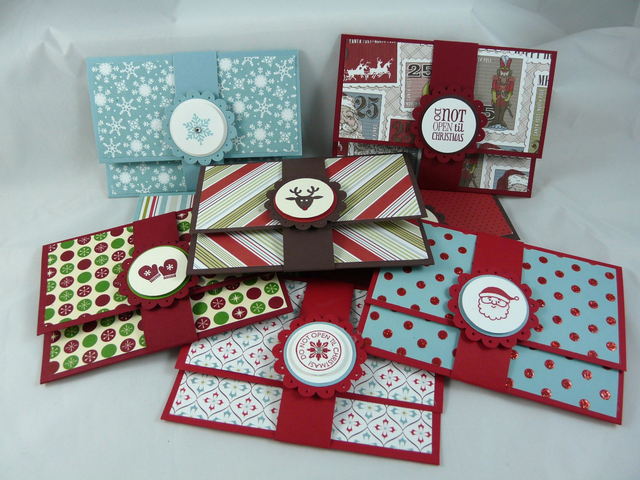 I stamped that super easy gift card holders christmas