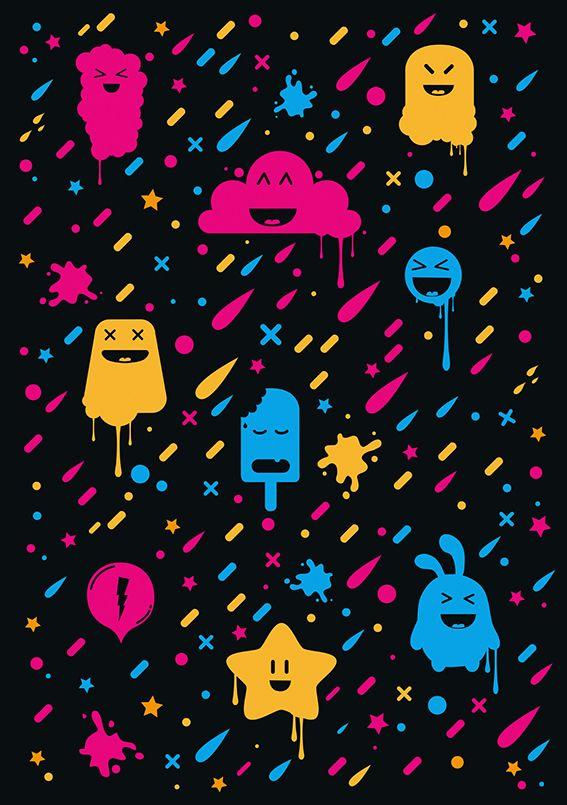 Cute color stuff cute randomness random emo scene wallpaper iphone colorful ice cream - Emo scene wallpaper ...