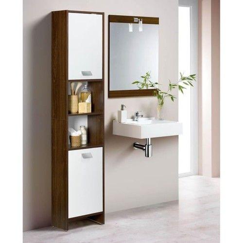 Top Colonne De Salle De Bain 39cm Decor Wenge Et Blanc Intermarche Shopping Vanity Bathroom Vanity Single Vanity