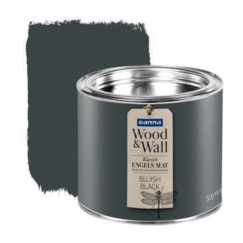 gamma wood&wall krijtverf bluish black 500 ml | muurverf kleur, Badkamer