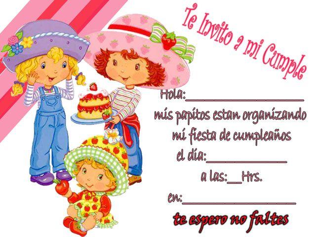 Tarjetas De Cumpleaños De Frutillita Para Imprimir Gratis