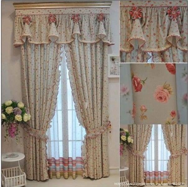 Cortinas bien romanticas cortinas y cenefas pinterest for Cortinas romanticas