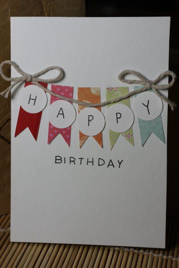 Items Similar To Bright Handmade Birthday Card On Etsy Cardstags