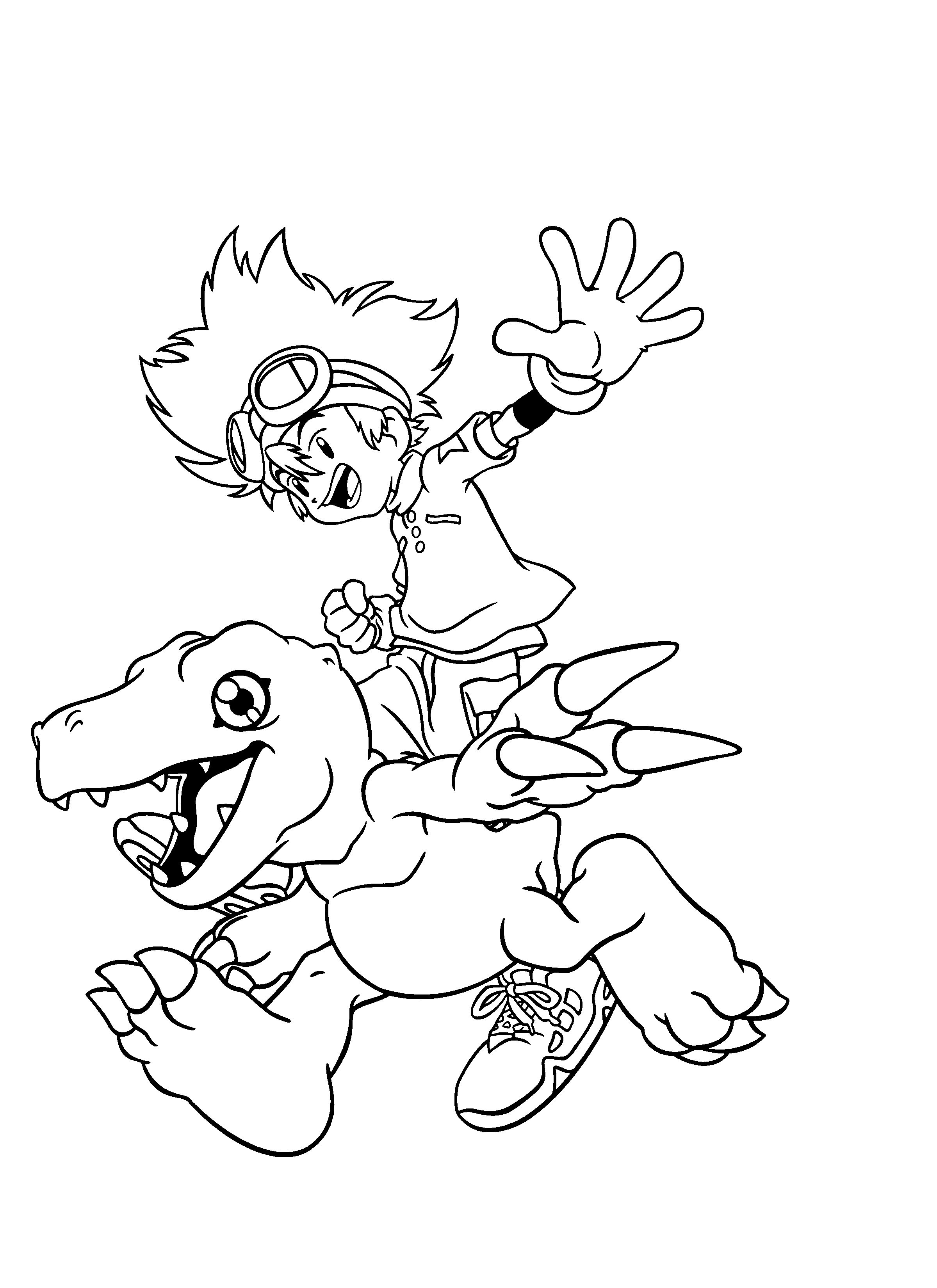 digimon-coloring-pages-239.png (2400×3300) | LineArt: Digimon ...