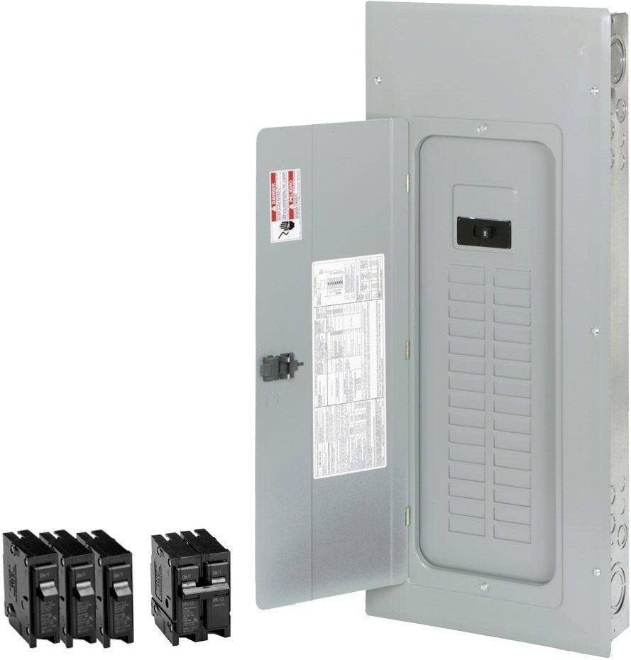 Eaton 200 Amp 30-Space 40-Circuit BR Type Main Breaker Electrical ...