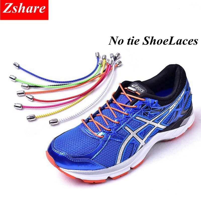 Reflective Shoeslaces Elastic Tie-free Strings Shoe Laces Solid color Casual