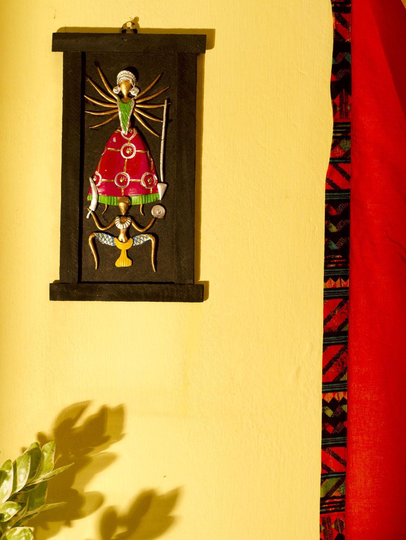Terracotta Classic Goddess Durga Wall Hanging at GroupShoppy ...